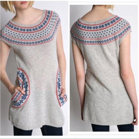 906f9c8e310 Urban Outfitters Tikirani Fair Isle tunic sweater.  M 5a3dae14fcdc31bb37035f83